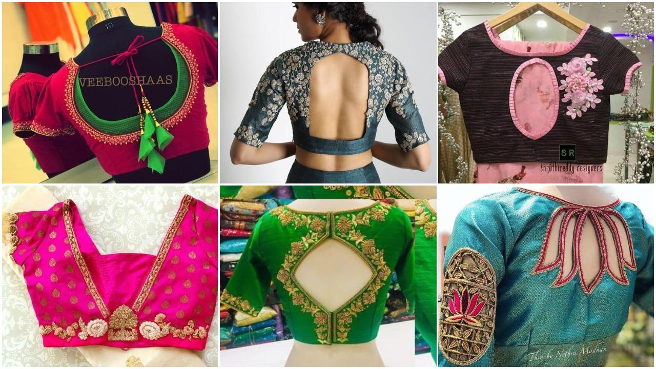 Bridal Saree Blouse Back Neck Designs Simple Craft Ideas