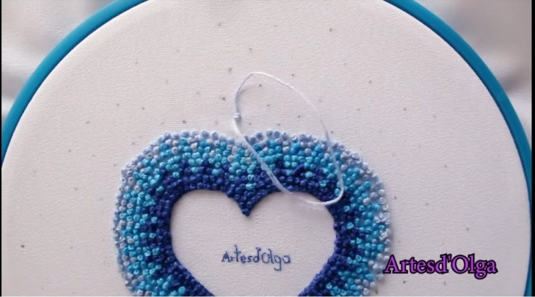 French knot heart
