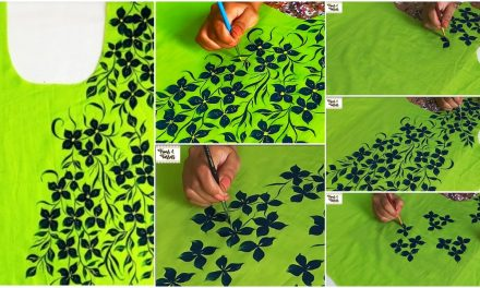 Full length painting design on kurti
