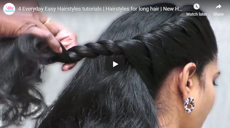 4 Everyday easy hairstyles tutorials