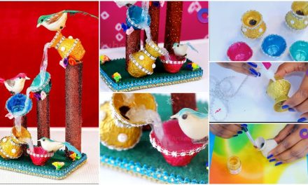 How to Make egg tray waterfall showpiece