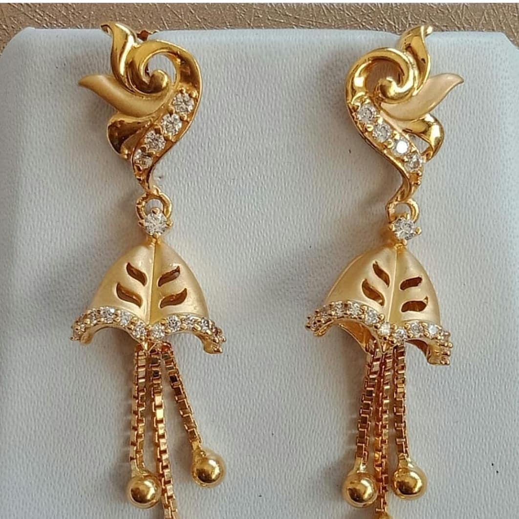 Gold Latkan Earrings
