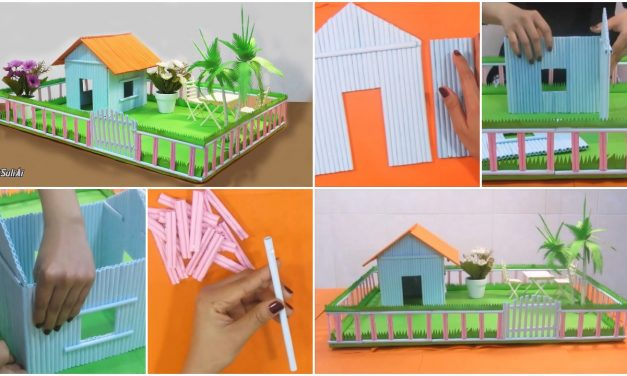 How to make beautiful paper house with playground