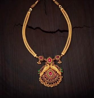 229ed981c70 Light weight gold necklace set design - Simple Craft Ideas