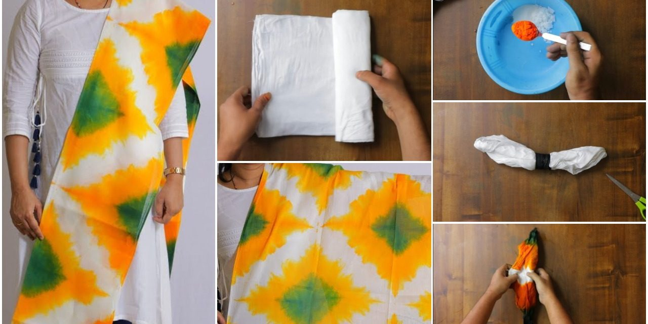 How to tie and dye printing at home step by step