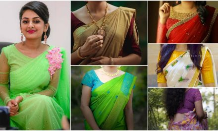 New blouse designs pattern with back and neck designer saree blouses