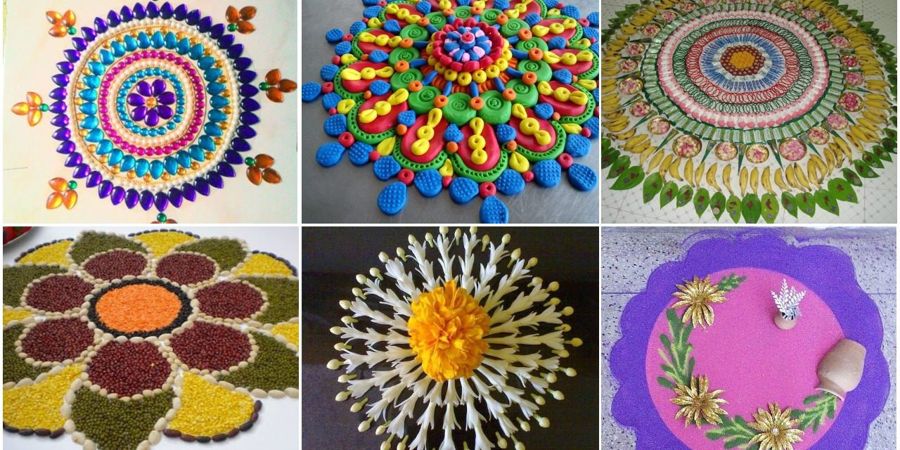 Get innovative rangoli designs and creative rangoli ideas