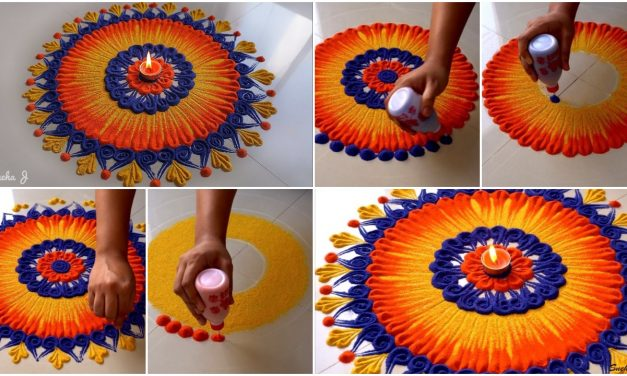 Innovative beautiful rangoli design