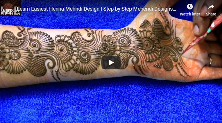 Learn easiest henna mehndi design