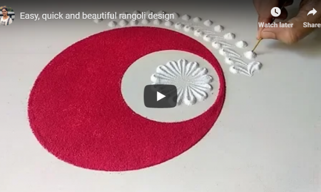 Easy and quick rangoli designs to try