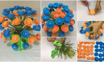 How to make guldasta from form sheet and plastic bottle