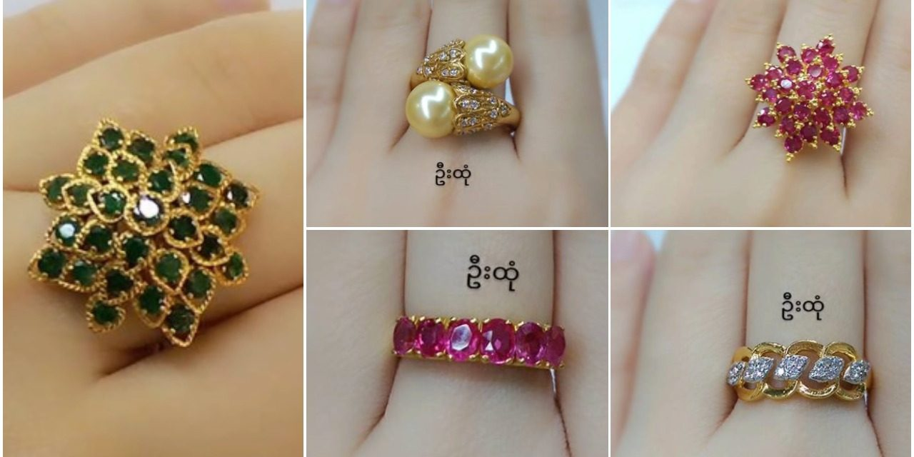 Beautiful gold rings collection