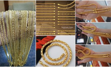 Latest long gold chain designs