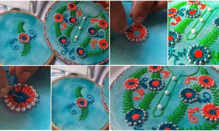 Work of puthi hand embroidery for kurti