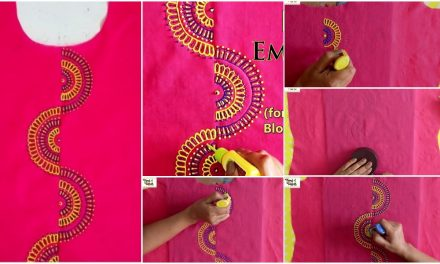 Embroidery design 3D painting for kurti