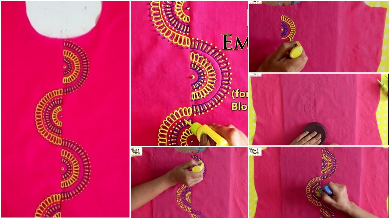 3D painting for kurti