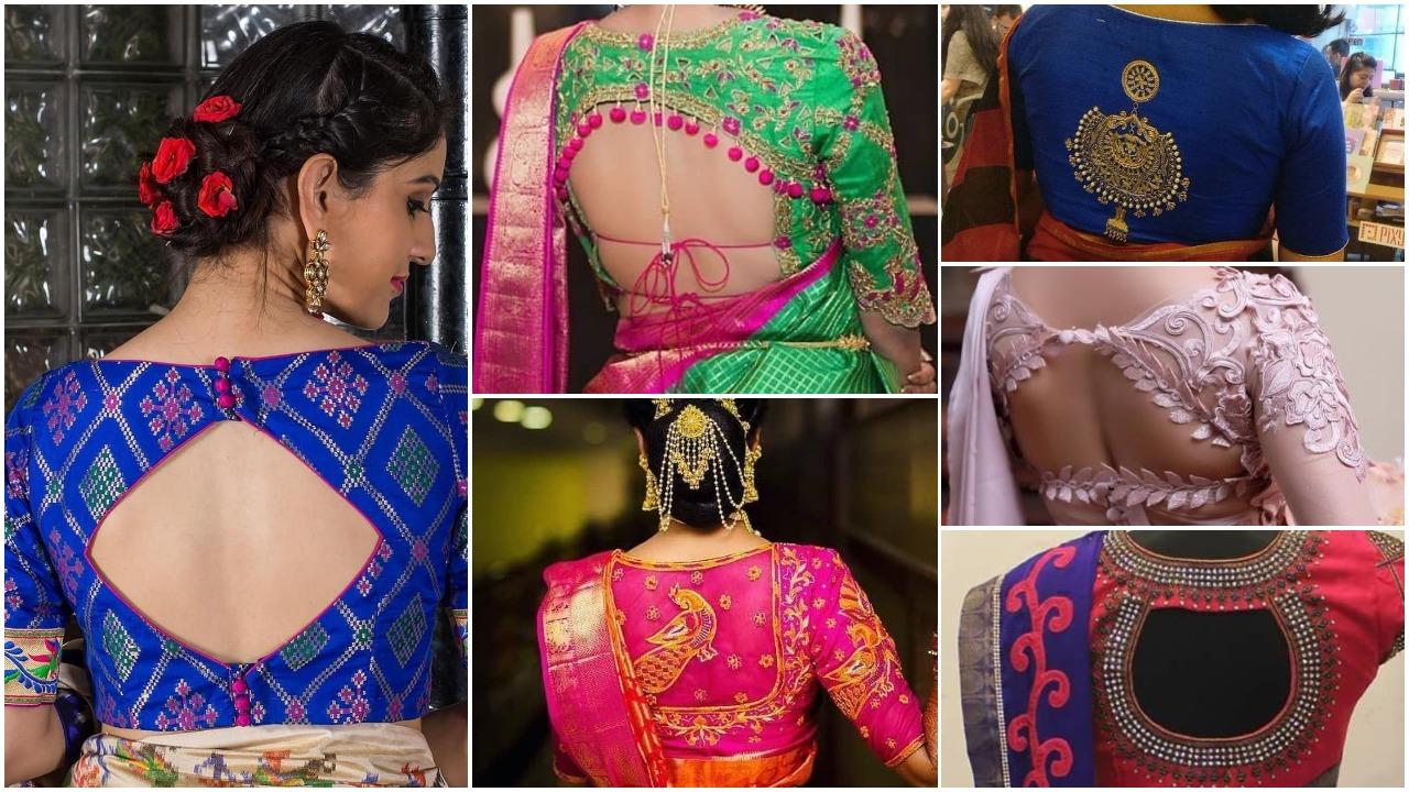 designer blouse back designs