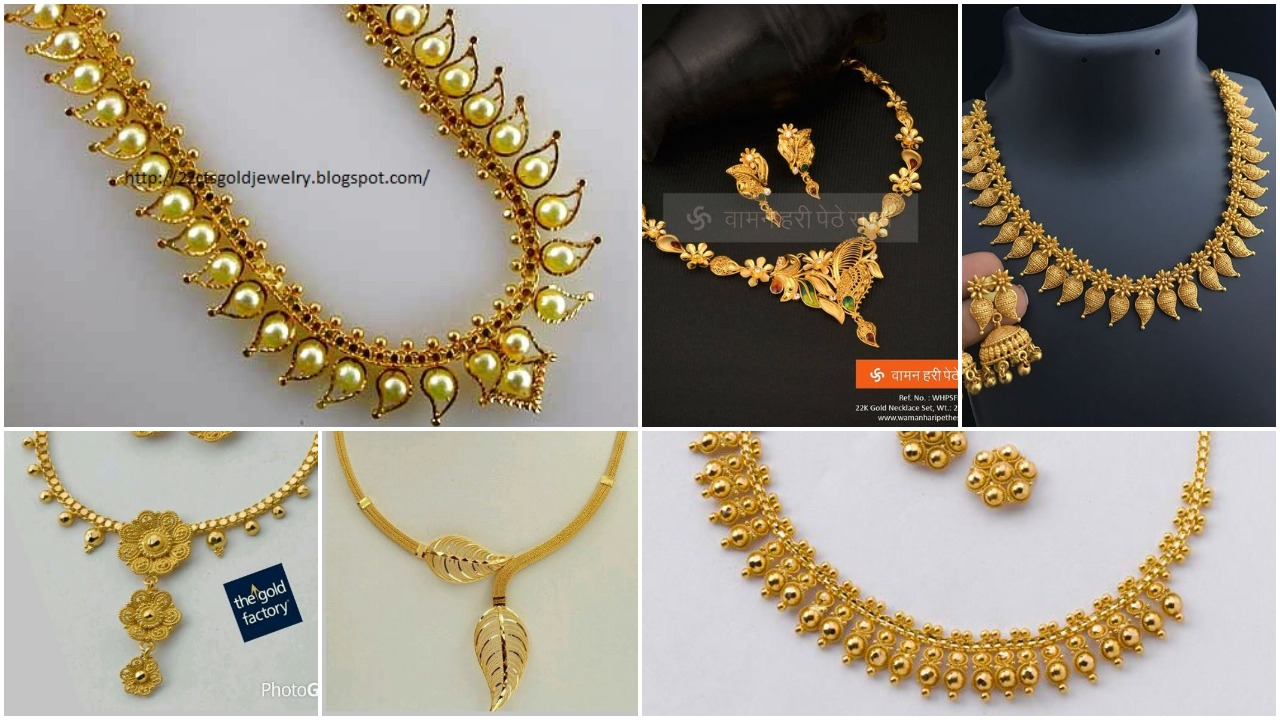 Designer gold necklace for women