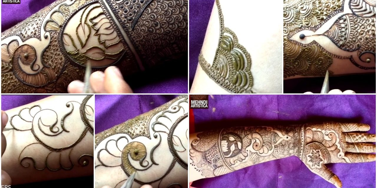 Marriage Special Easy Bharwa Floral Mehndi Design For Hand Simple