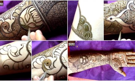 Marriage special easy bharwa floral mehndi design for hand