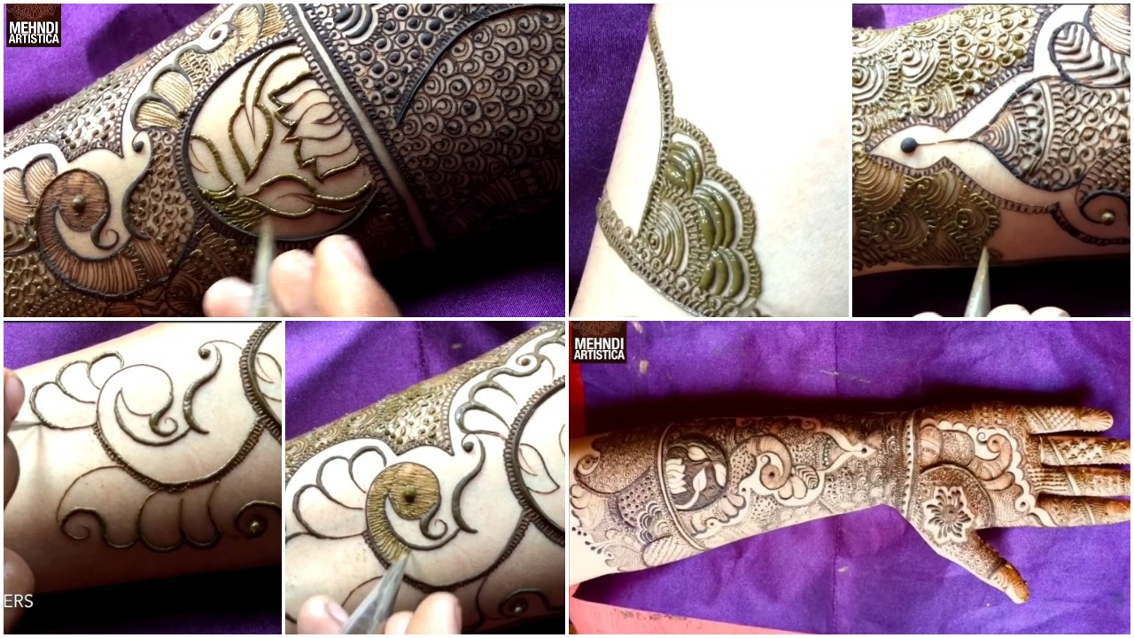 special easy bharwa floral mehndi design