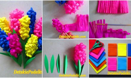 Hyacinths from corrugated paper