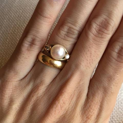 Pearl Wedding Ring