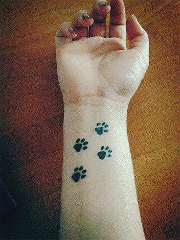 Pet paw tattoo