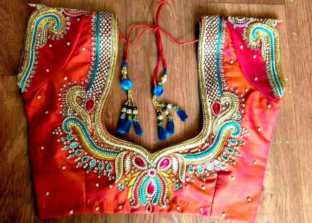 f144c9a4831781 Latest maggam work blouse designs - Simple Craft Ideas