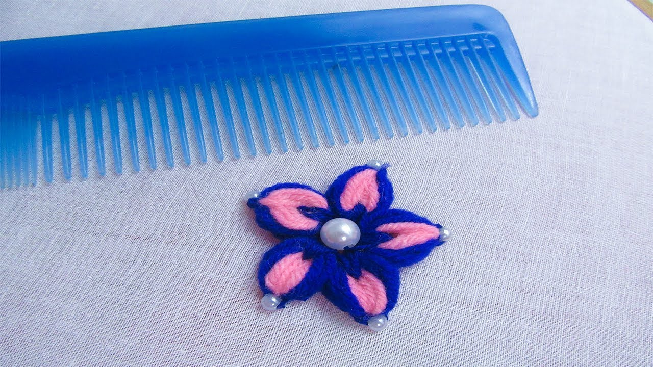 flower making trick with hair comb