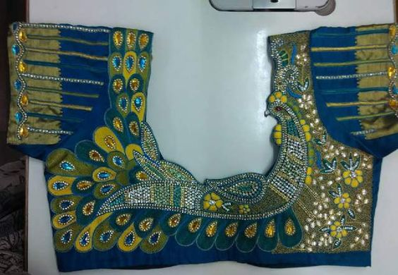 e7c164492da20 Latest maggam work blouse designs - Simple Craft Ideas