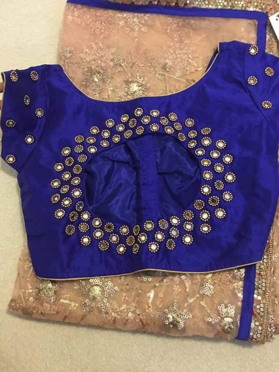 Mirror Work Saree Blouse