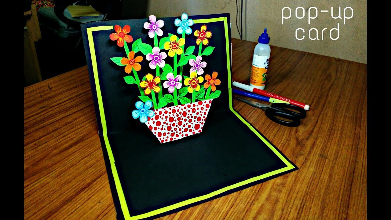 how to make different type of pop up card  simple craft ideas