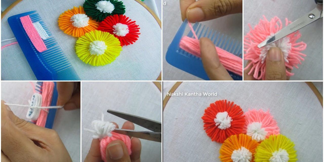 Hand embroidery amazing trick