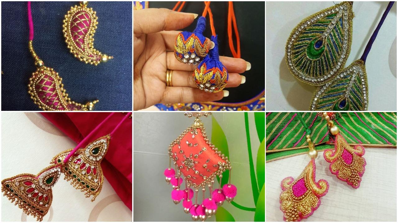 inspiring blouse tassels designs