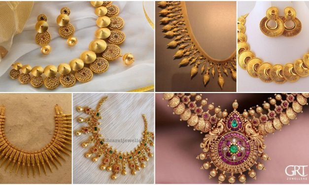 Indian jewellery necklace designs collection