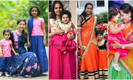 Mother daughter matching party dresses