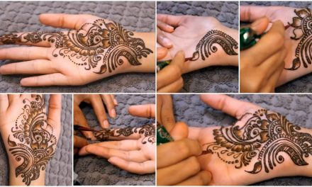 Simple mehndi design for beginners