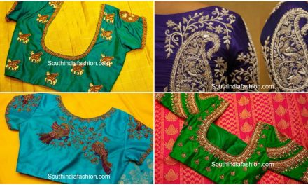 Bridal silk saree blouse designs