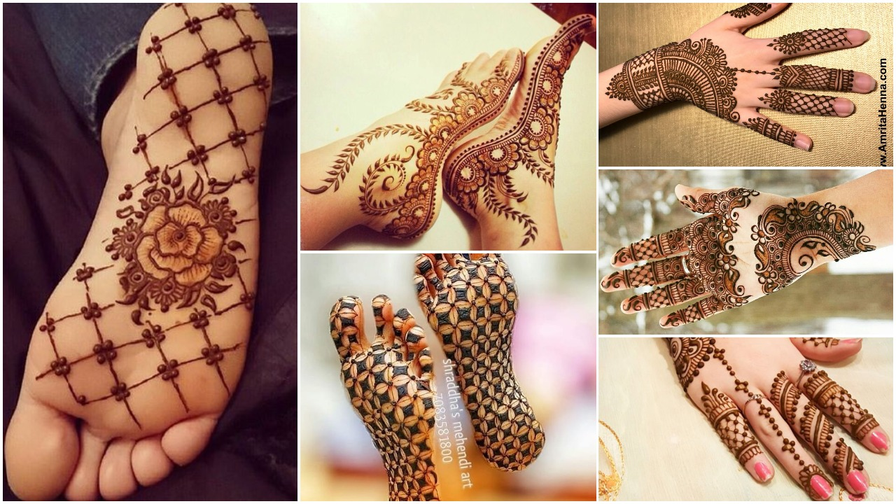 simple jewelry style mehndi design