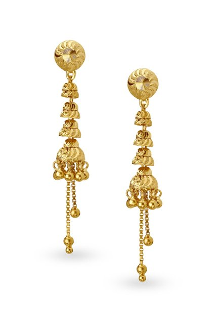 c4a0325655db16 Latest light weight gold Earring designs … Simple light weight daily wear  small earring designs ·