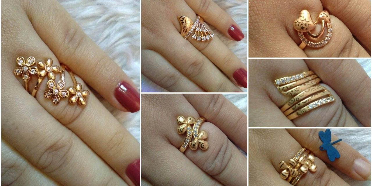 Beautiful gold plated rings collections