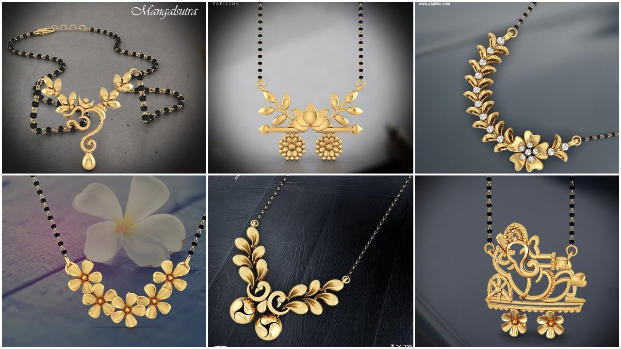 mangalsutra designs in gold