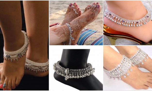 Antique silver anklet designs for women