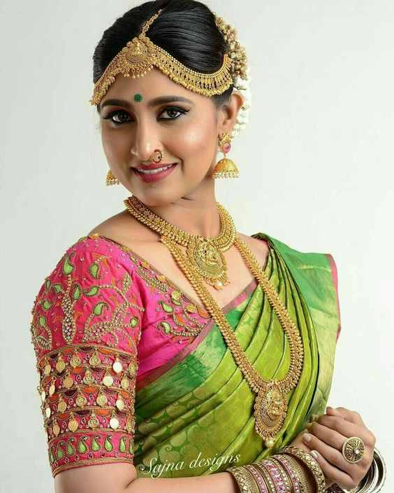 Traditional South Indian Bridal Blouse Designs Simple Craft Ideas