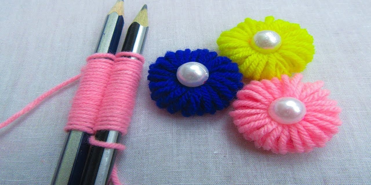 Easy Hand Embroidery Trick For Flower Making Simple Craft Ideas