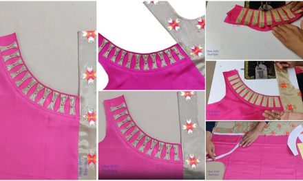 Kurti neck designs cutting and stitching