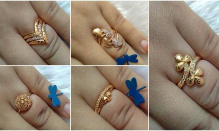 Beautiful gold plated ring collections