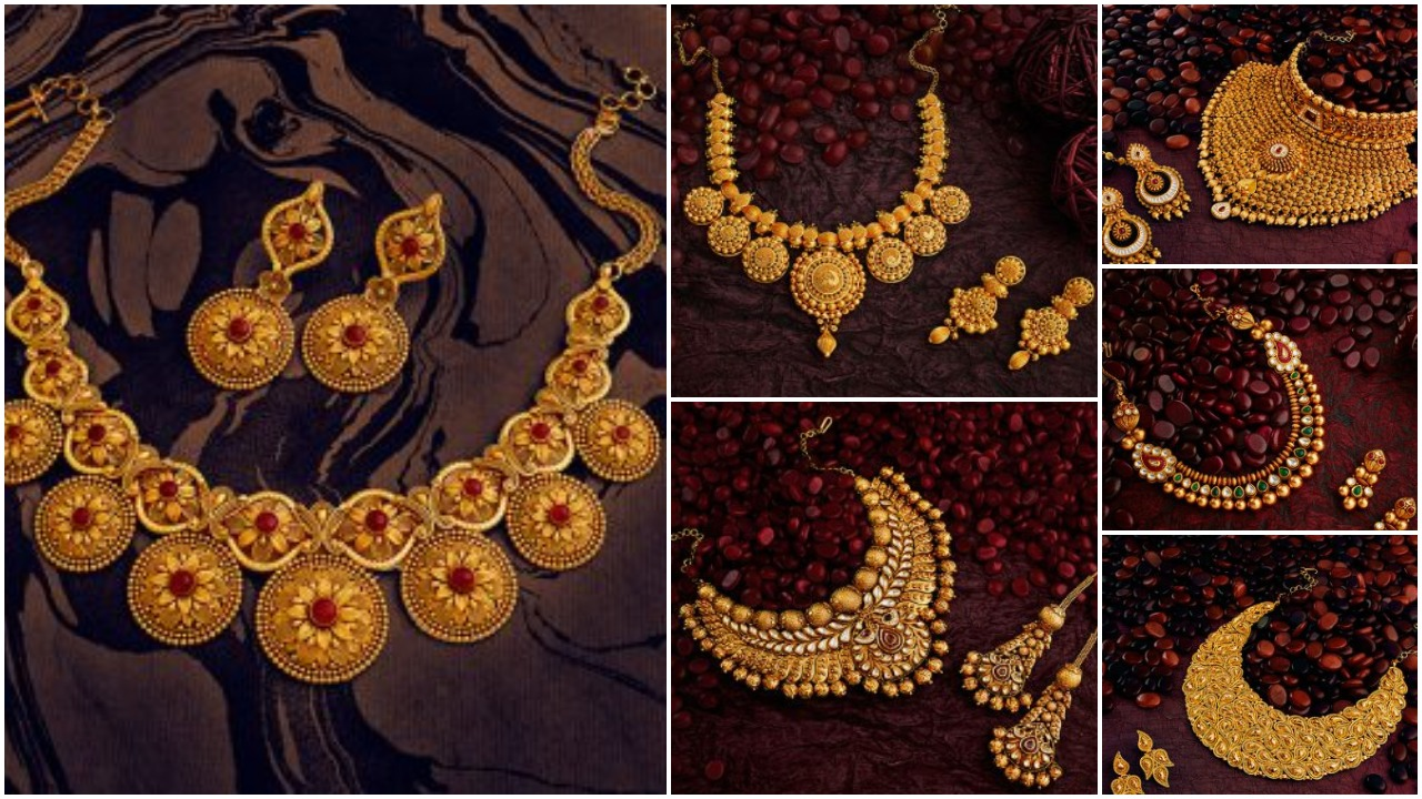 gold necklace designs for women
