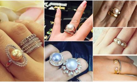 Beautiful pearl wedding ring designs